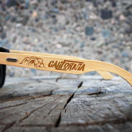 Personalized Black Bamboo Sunglasses | New Port California