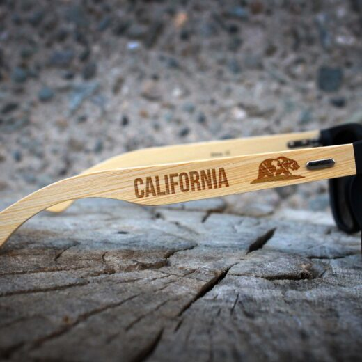 Personalized Black Bamboo Sunglasses | Bear