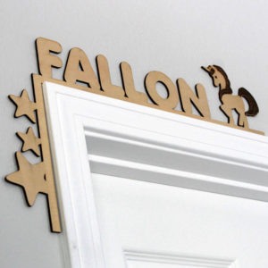 Wood Personalized Door Topper | Fallon
