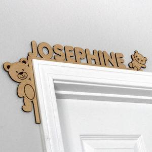 Wood Personalized Door Topper   Josephine