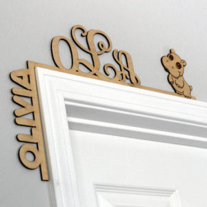 Wood Personalized Door Topper   Olivia