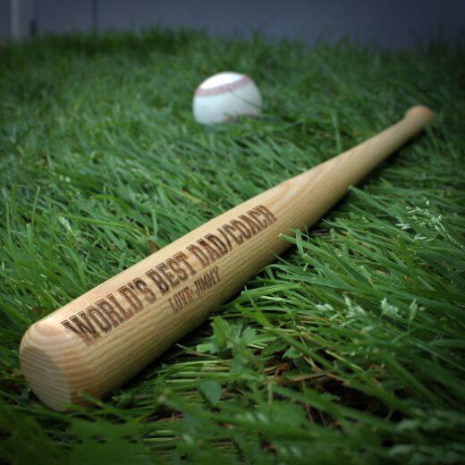 Personalized Mini Baseball Bat | Dad Coach