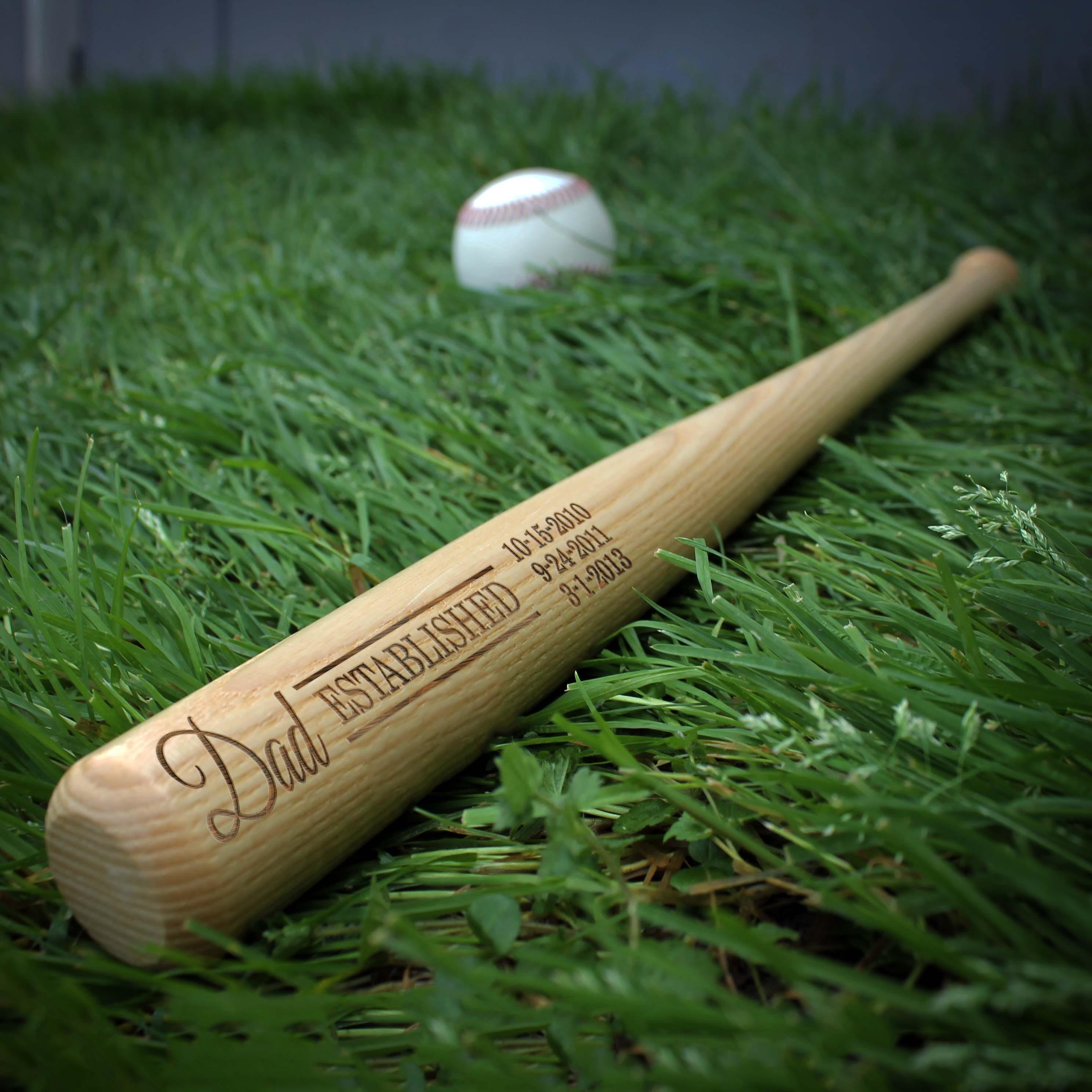 Personalized Mini Baseball Bat | Dad EST