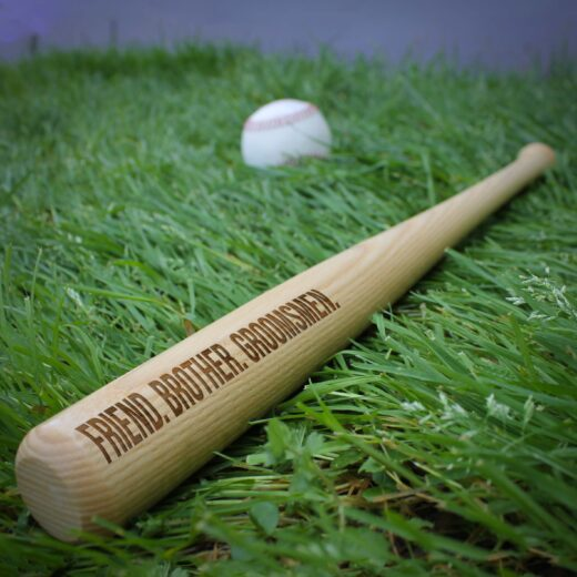 Personalized Mini Baseball Bat | Groomsmen