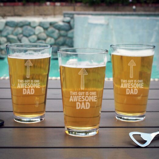 Personalized Pint Glass | Arrow