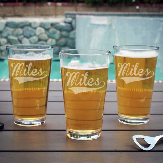 Personalized Pint Glass | Miles