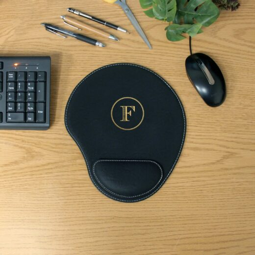 Personalized Leatherette Mouse Pad   F