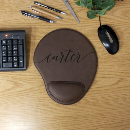 Personalized Leatherette Mouse Pad   Carter