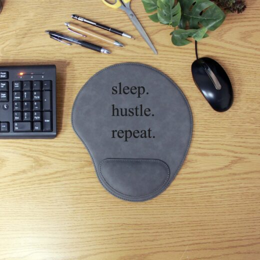 Personalized Leatherette Mouse Pad | Sleep Hustle