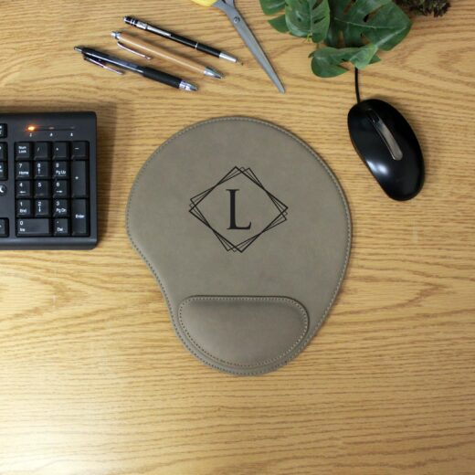 Personalized Leatherette Mouse Pad   L