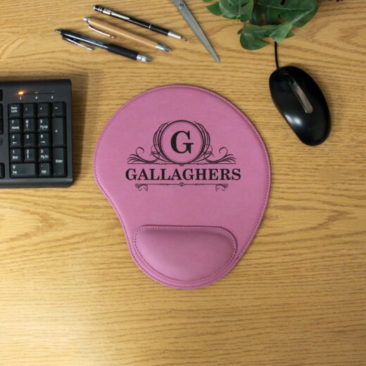 Personalized Leatherette Mouse Pad | Gallaghers