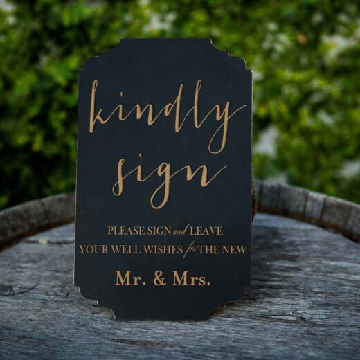 Kindly Sign | Guest Book Sign