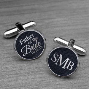 Personalized Cufflinks | Father Bride