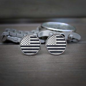 Personalized Cufflinks   USA Flag