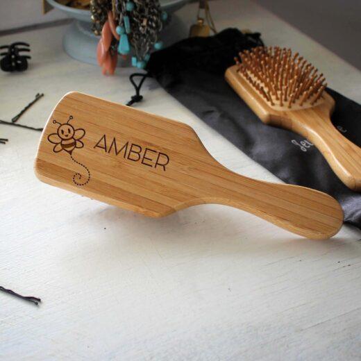 Personalized Hair Brush | Amber