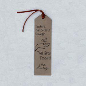 Personalized Bookmark   Mrs Rawlings