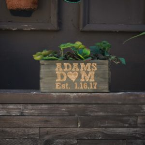 10 X 5 Personalized Planter Box | Adams