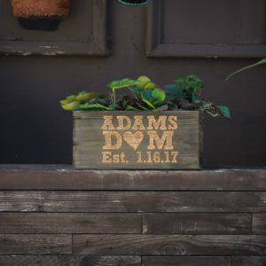 10 X 5 Personalized Planter Box | Adams