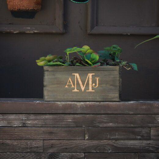 10 X 5 Personalized Planter Box | AMJ