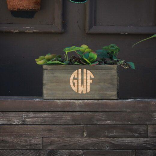 10 X 5 Personalized Planter Box | GWF