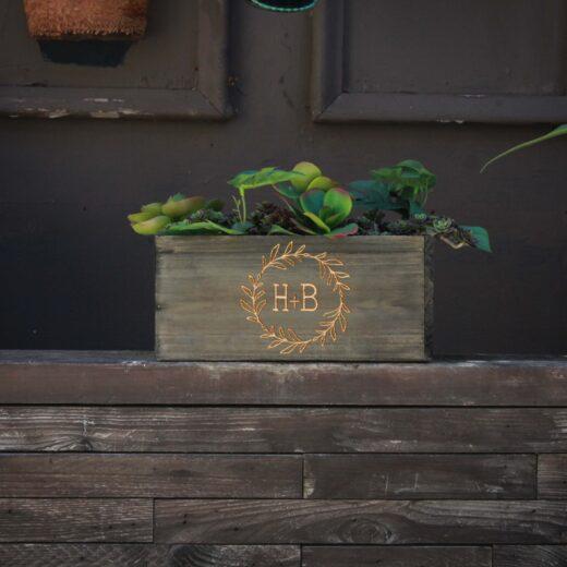 10 X 5 Personalized Planter Box | HB Wreath