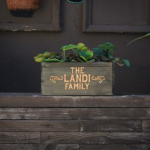 10 X 5 Personalized Planter Box | Landi Family