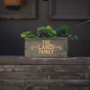 10 X 5 Personalized Planter Box | Landi Family