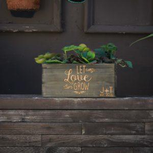 10 X 5 Personalized Planter Box | Let Love Grow JT
