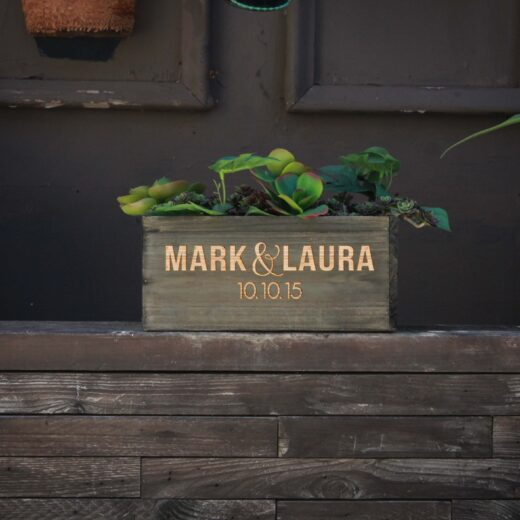 10 X 5 Personalized Planter Box | Mark Laura