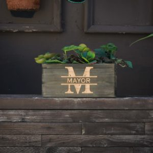 10 X 5 Personalized Planter Box | Mayor