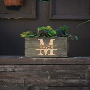 10 X 5 Personalized Planter Box | Mayor