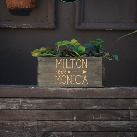 10 X 5 Personalized Planter Box | Milton