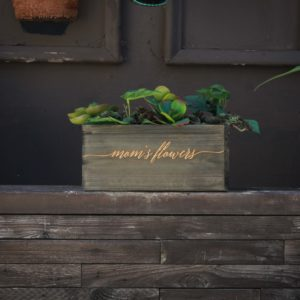 10 X 5 Personalized Planter Box | Moms Flowers