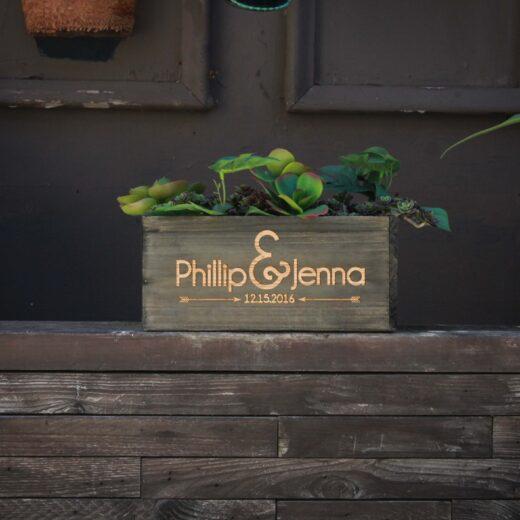 10 X 5 Personalized Planter Box | Phillip Jenna