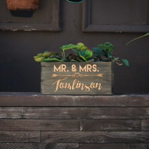 10 X 5 Personalized Planter Box | Tomlinson
