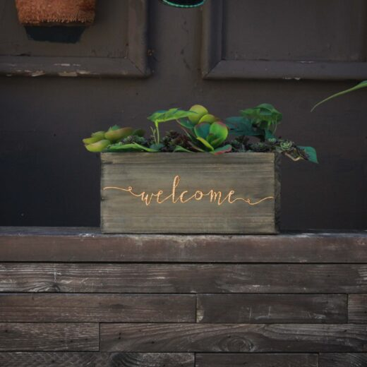 10 X 5 Personalized Planter Box | Welcome