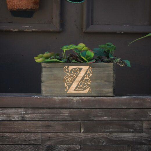 10 X 5 Personalized Planter Box | Z