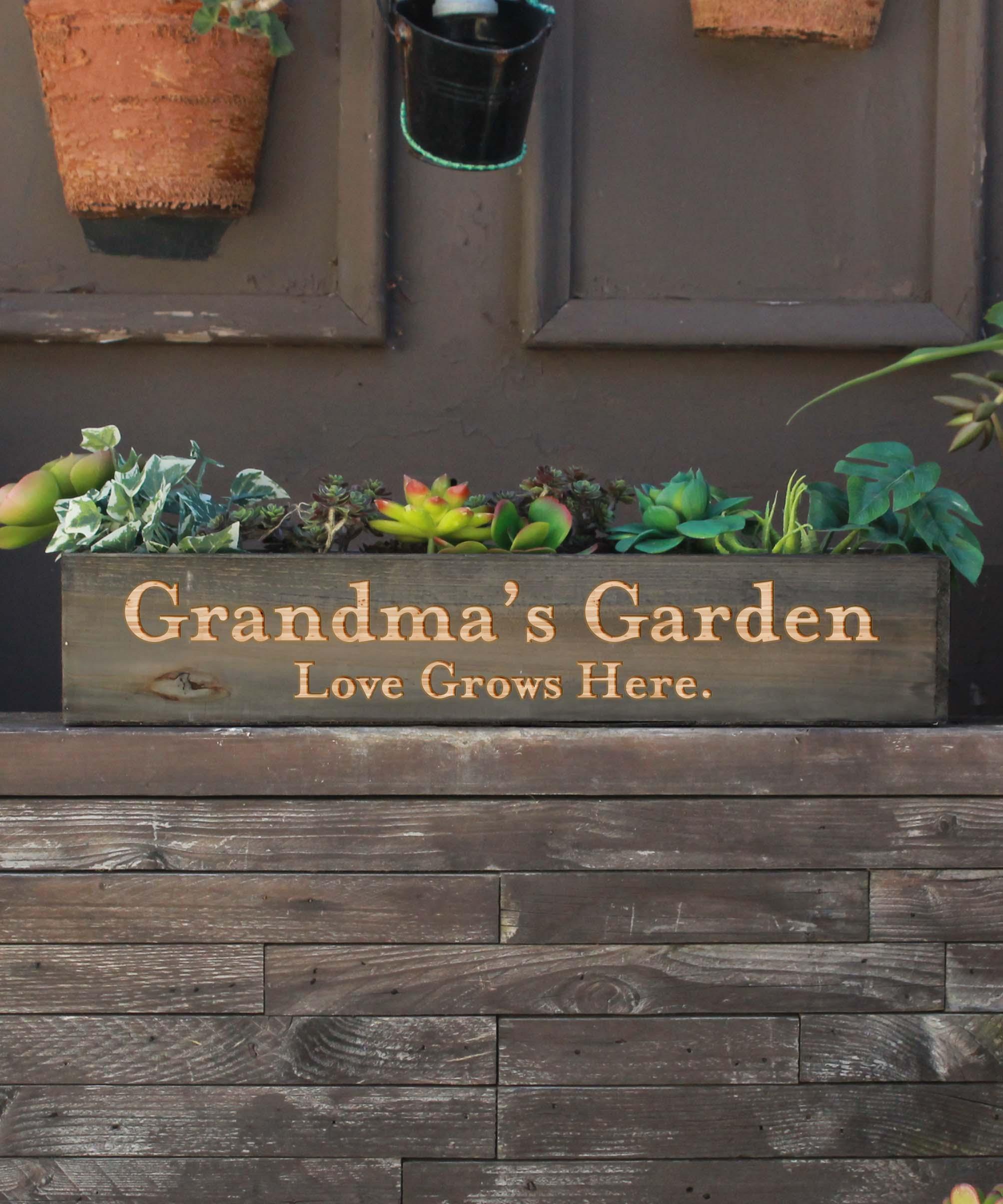 20 x 4 Personalized Planter Box | Grandma's Garden
