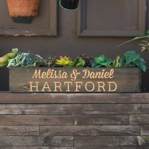 20 x 4 Personalized Planter Box | Hartford