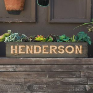 20 x 4 Personalized Planter Box | Henderson