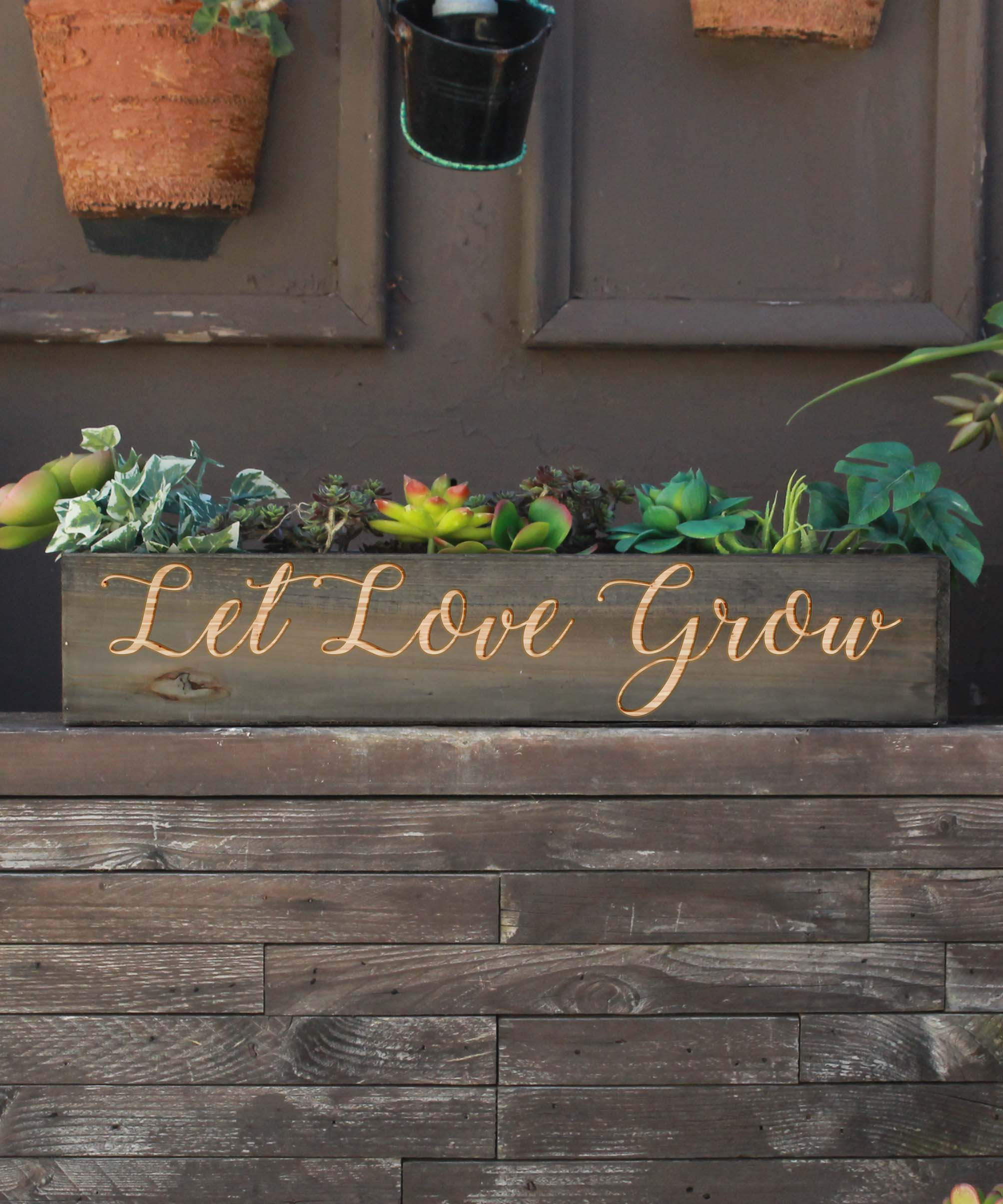 20 x 4 Personalized Planter Box | Let Love Grow