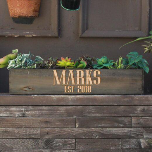 20 x 4 Personalized Planter Box | Marks