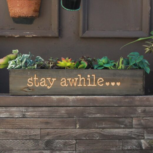 20 x 4 Personalized Planter Box | Stay A While