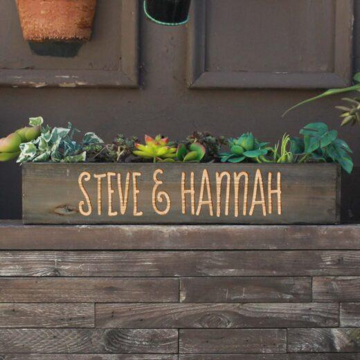 20 x 4 Personalized Planter Box   Steve Hannah