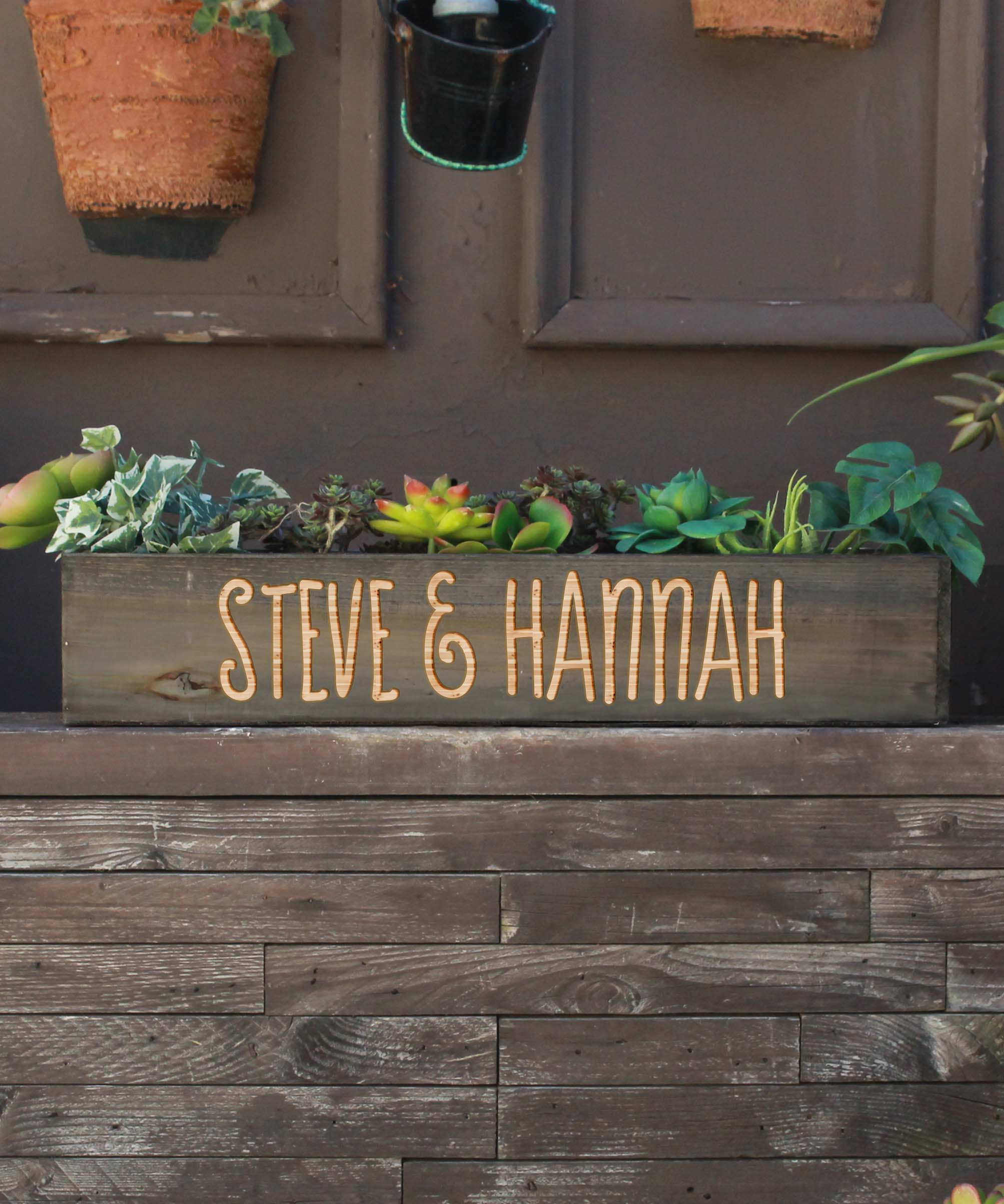 20 x 4 Personalized Planter Box | Steve Hannah