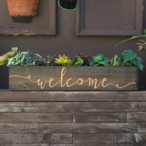 20 x 4 Personalized Planter Box | Welcome