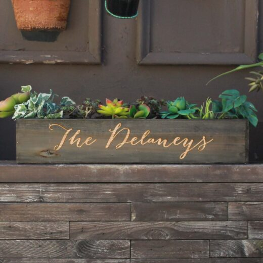 20 x 4 Personalized Planter Box | Delaneys