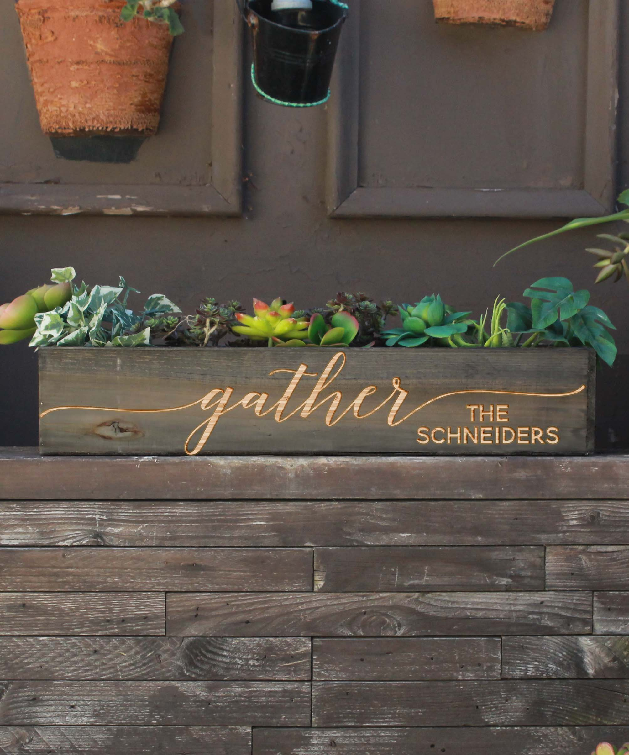 20 x 4 Personalized Planter Box | Gather