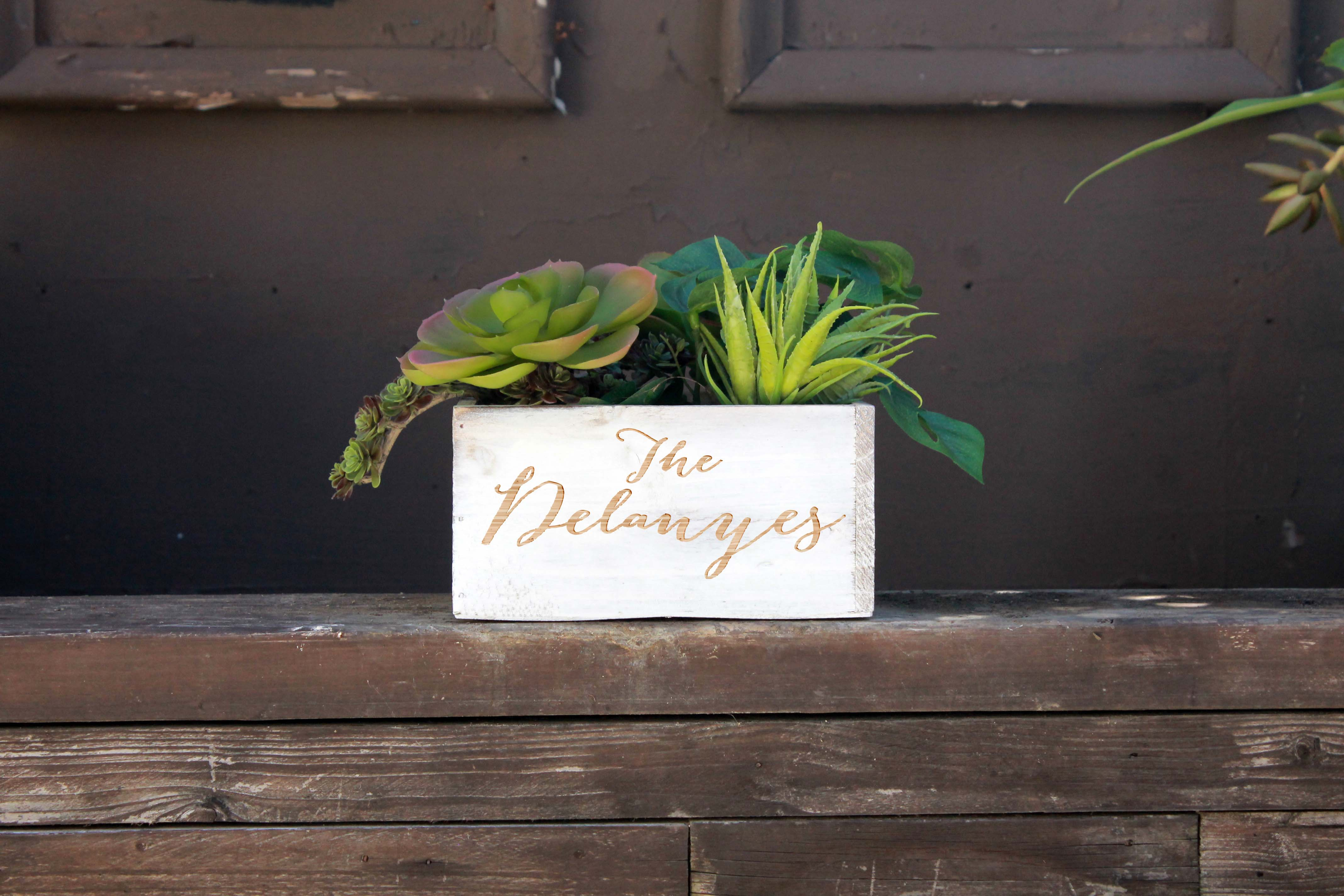7 x 7 Personalized Planter Box | Delaneys