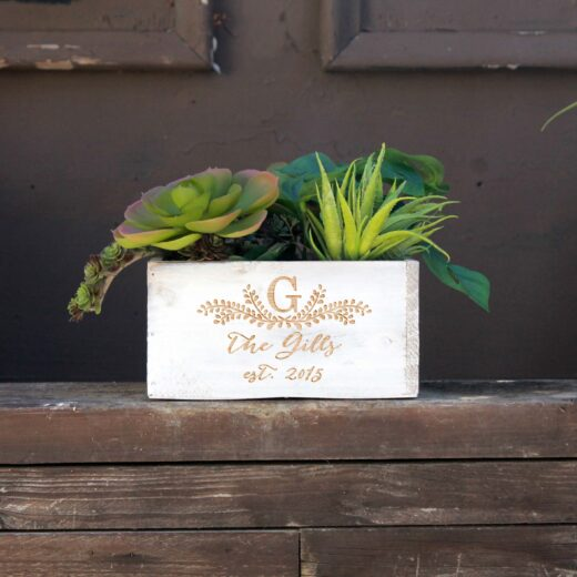 7 x 7 Personalized Planter Box | Gills